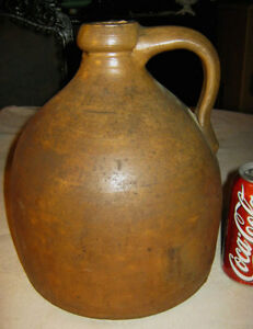 Primitive Country Farm Bee Hive Antique Stoneware Whisky Bar Tavern Folk Art Jug