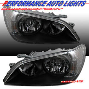 Set Of Oe Style Black Housing Hid Version Headlights For 2001 2005 Lexus Is300