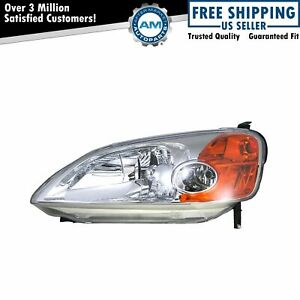 Headlight Headlamp Driver Side Left Lh For 01 03 Honda Civic 2 Door Coupe