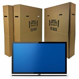 Uboxes Tv Moving Box Flat Screen Fits Tv s 32 To 70 Adjustable Box Lcd led