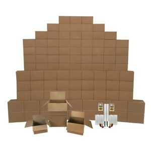 8 Room Kit 100 Bigger Smart Moving Boxes Tape Bubble Roll More