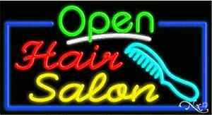 New open Hair Salon 37x20x3 Border Real Neon Sign W custom Options 15518