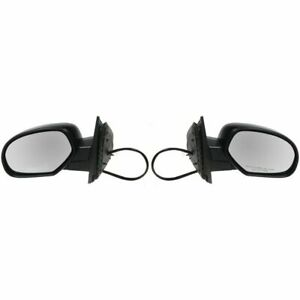 Side View Mirrors Heated Folding Puddle Light Memory Pair Set For Chevy Gmc
