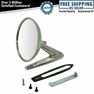 Side View Mirror Chrome Outer Left Or Right For 63 66 Pontiac Bonneville Gto