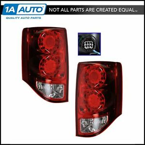 Tail Light Lamp Led Left Right Pair Set For Dodge Grand Caravan New