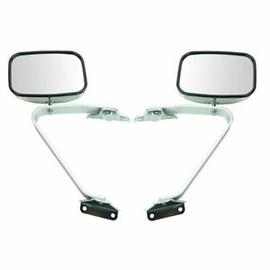 Side View Manual Mirrors Chrome Pair Set For Ford F series Pickup Truck
