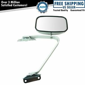 Manual Side View Mirror Chrome Left Or Right New For Ford F Series Pickup Truck