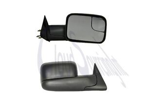 New Passenger Side Folding Manual Tow Mirror W Convex Spotter Reduce Blind Spot