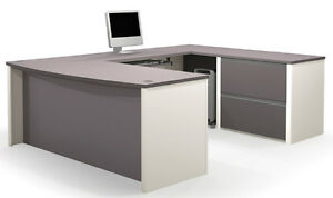 Bestar Connexion Office Desk In Sandstone Slate 93865 1559
