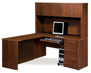 Bestar Embassy Tuscany Brown L Shaped Office Desk 60865 1563