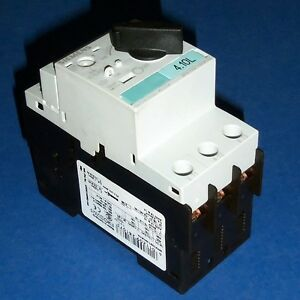 Siemens 0 55 0 8a Self Protected Motor Starter Switch 3rv1021 0ha10 pzf