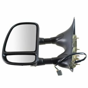 Towing Smooth Power Heated Signal Side View Mirror Driver Left Lh For Ford Truck