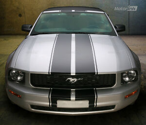 2005 2009 Ford Mustang Convertible Double Rally Stripes Racing Decals 06 07 08