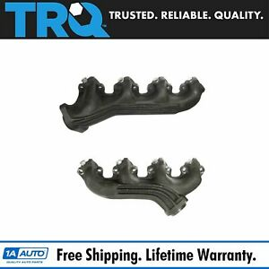 Exhaust Manifolds Pair Set For 75 87 Ford F series Pickup Truck E series 7 5l V8