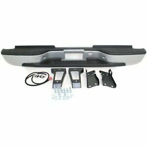 Step Bumper Assembly For 2001 2006 Gmc Sierra 2500 Hd Fleetside Pwd ctd Silver