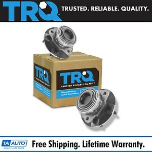 Trq Front Wheel Hubs Bearings Pair Set Of 2 New For Equinox Torrent Vue 5 Lug
