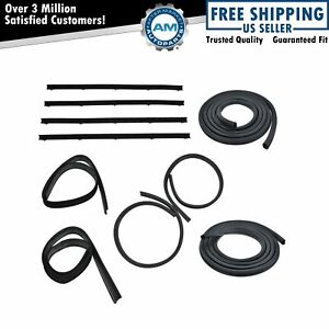Door Window Run Channel Weatherstrip Seals Set Kit For Dodge D w Pickup Truck