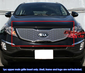 Fits 2011 2013 Kia Sportage Sx Stainless Steel X Mesh Blitz Grille Grill Insert