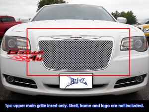 Fits 2011 2013 Chrysler 300 300c Stainless Steel Double Wire X Mesh Grille Grill