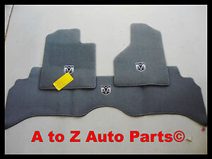 2006 2008 Dodge Ram Dark Gray Complete Set Of Front Rear Floor Mats Oem Mopar
