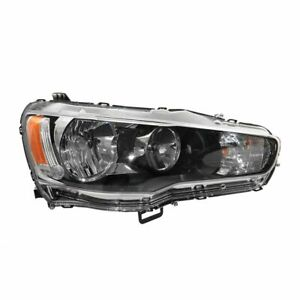Headlight Head Lamp Halogen Rh Right Passenger Side For 09 13 Mitsubishi Lancer