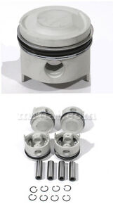Fiat 124 Spider 1800 2000 Pistons Set 84 4mm Standard Compression New