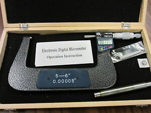 5 6 125 150mm Electronic Digital Micrometer special Low Price Clearance new