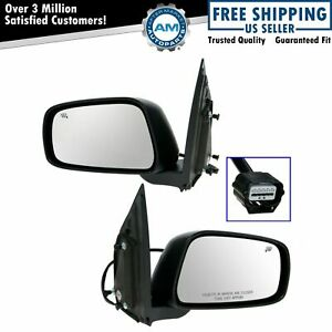 Mirrors Power Heated Smooth Left Right Pair Set For Nissan Frontier Xterra