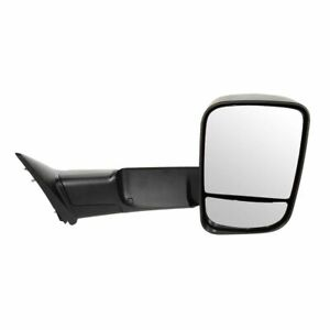 Side View Tow Mirror Manual Flip Up Textured Rh Right Passenger For Dodge Ram