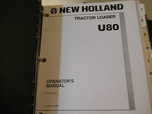 New Holland Construction U80 Tractor Loader Service Repair Manual W Op Manual