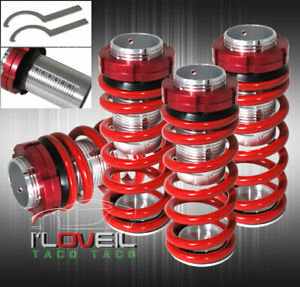 98 02 Honda Accord Jdm Scaled Adjustable Coilover Lowering Spring Sleeves Red