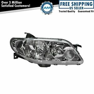 Headlight Headlamp W Silver Bezel Passenger Side Right Rh For 02 03 Protege5