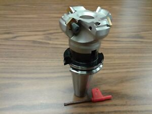 2 1 2 45 Degree Indexable Face Shell Mill Cat40 Arbor face Milling Cutter new