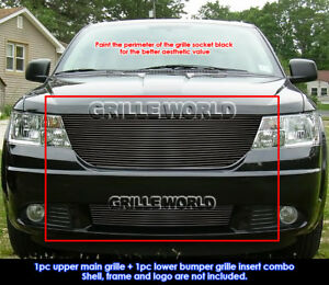 Fits 2009 2010 Dodge Journey R T Se Sxt Black Billet Grille Insert Combo
