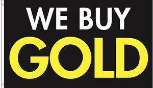 10 Pack 3 x5 Ft We Buy Gold Flag Banner Advertising Business Sign Kb
