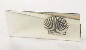 Antique Vintage Sterling Silver Leonore Doskow Business Card Paper Holder