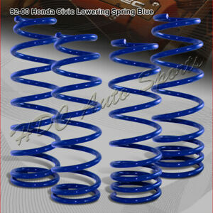 For 1992 2000 Honda Civic Jdm Blue Suspension Coil Lower Lowering Springs Kit