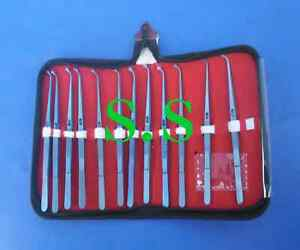 Pin Holding Dental Tweezer With Lock12 Pc Titanium Surgical Instruments T t 0016