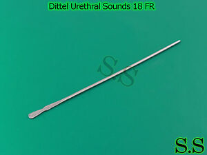 12 Pieces Of Dittel Urethral Sounds 18 Fr Ob gyno Instruments