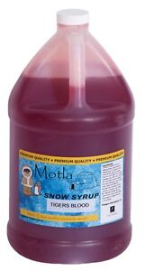 Motla Tiger s Blood Snow Cone Syrup one Gallon