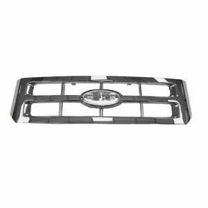 Upper Chrome Front Grille Grill 5e6z8200aa For 08 12 Ford Escape Hybrid