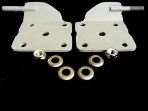 Chevy Nova Camaro Rear End Lower Shock Mount Plates Mounts For 2 5 Leaf Springs