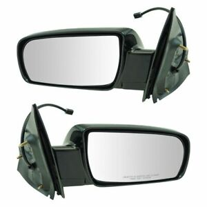 Power Folding Mirrors Black Left Lh Right Rh Pair Set For 00 05 Chevy Astro