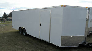 24 Car Hauler Enclosed Cargo 5200ib Axle Auto Race Trailer 8 5x24 9990 Lb Gvwr