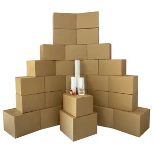 Moving Boxes 2 Room Bigger Smart Moving Kit 28 Boxes tape