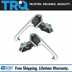 Chrome Outside Exterior Door Handle Left Right Pair Set For 80 96 Ford Truck