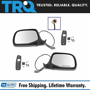 Trq Power Side View Mirrors Chrome Black Left Right Pair For F series Truck