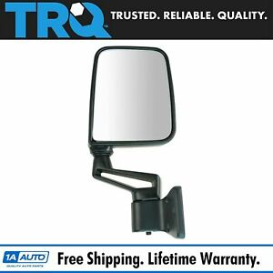 Trq Manual Side View Mirror Folding Passenger Right Rh For 87 02 Jeep Wrangler