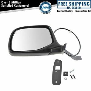 Chrome Power Side View Door Mirror Driver Left Lh For Ford Pickup Truck Bronco