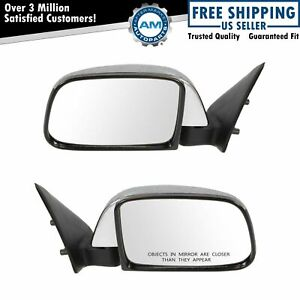 Manual Side View Mirrors Chrome Left Right Pair Set For 89 95 Toyota Pickup